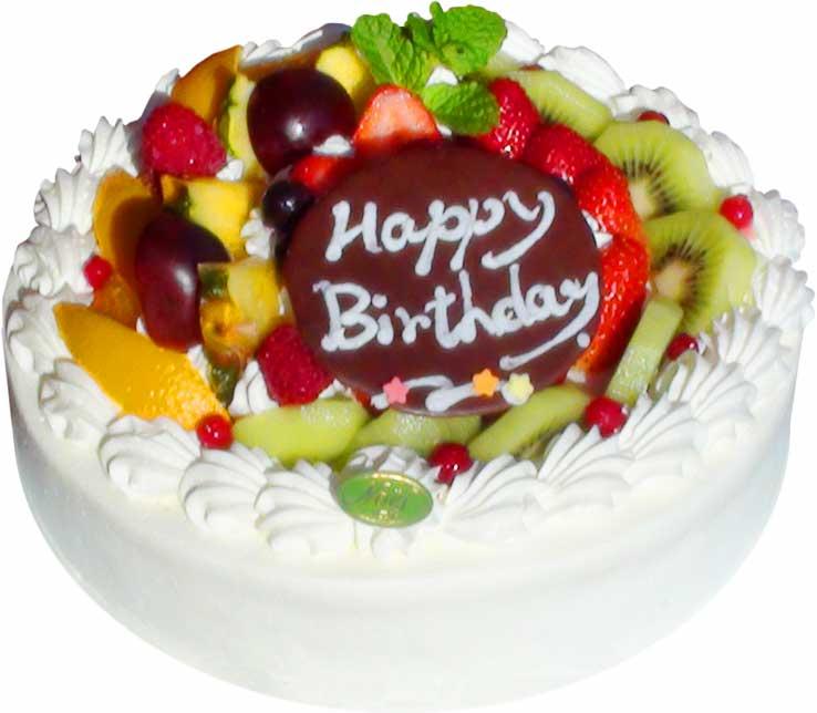 生クリームフルーツ盛りケーキ