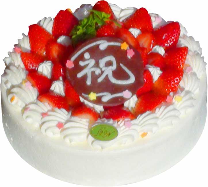 生クリームいちご盛りケーキ